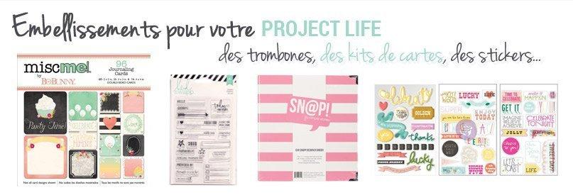 Albums et embellissements pour le Project Life