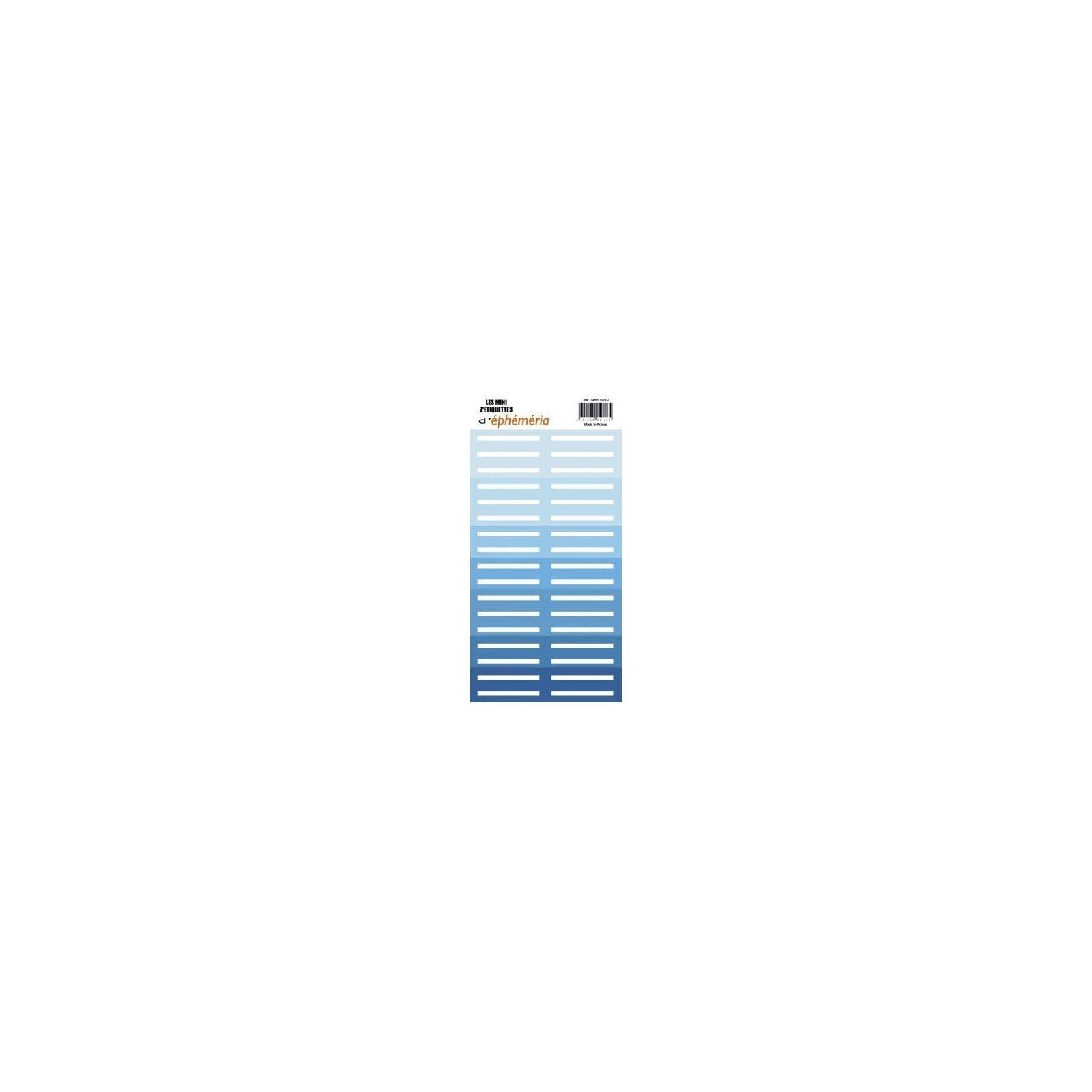 Les mini z'étiquettes - Nuances de bleu - Ephemeria