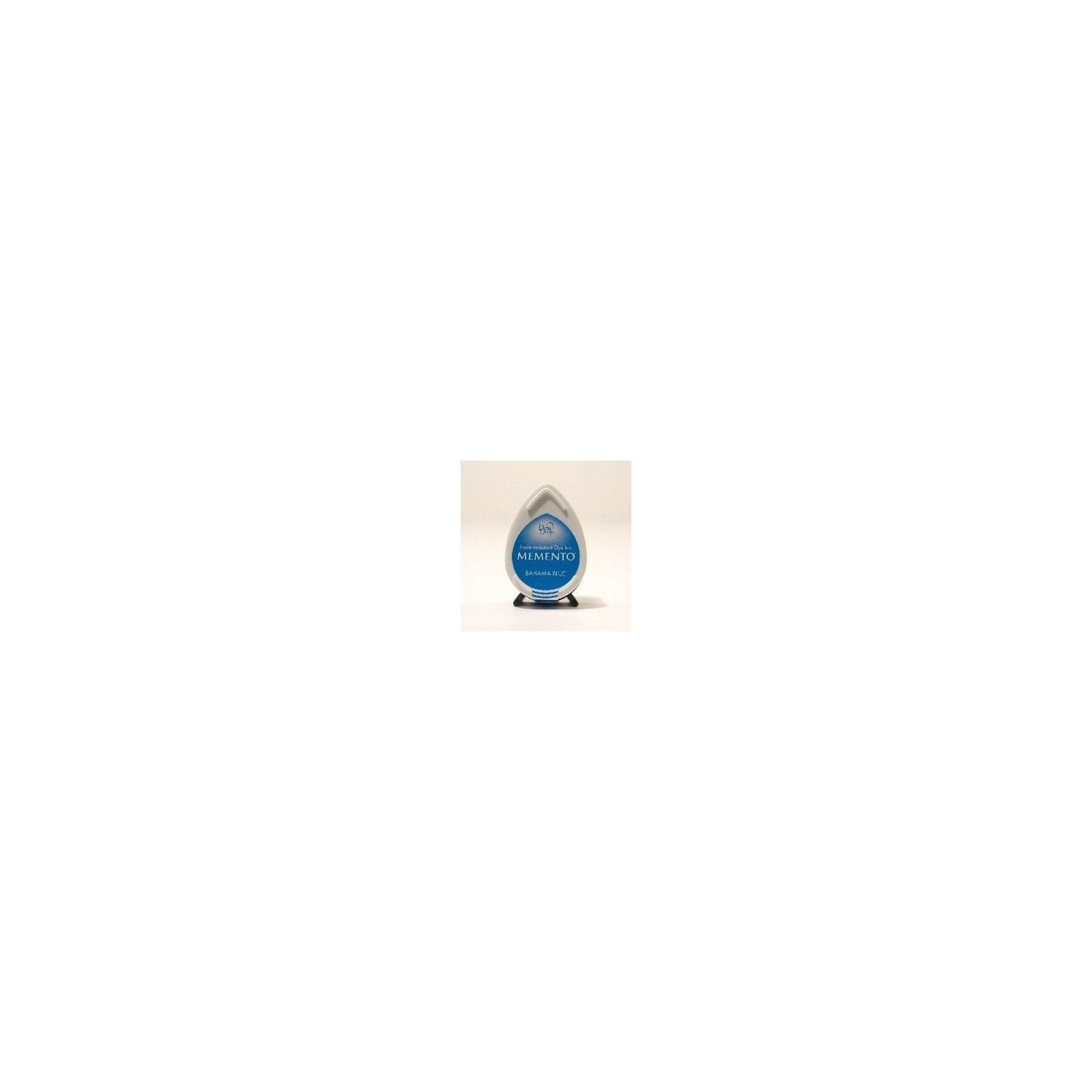 Mini encreur bleu Memento Dew Drop - Bahama Blue - Tsukineko