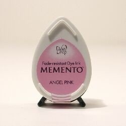 Mini encreur rose Memento Dew Drop - Angel Pink - Tsukineko