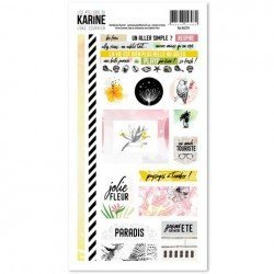 Planche de stickers - Long Courrier - Les ateliers de Karine