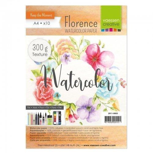 Papiers aquarelle - A4 - 300gr - Florence - Vaessen Creative