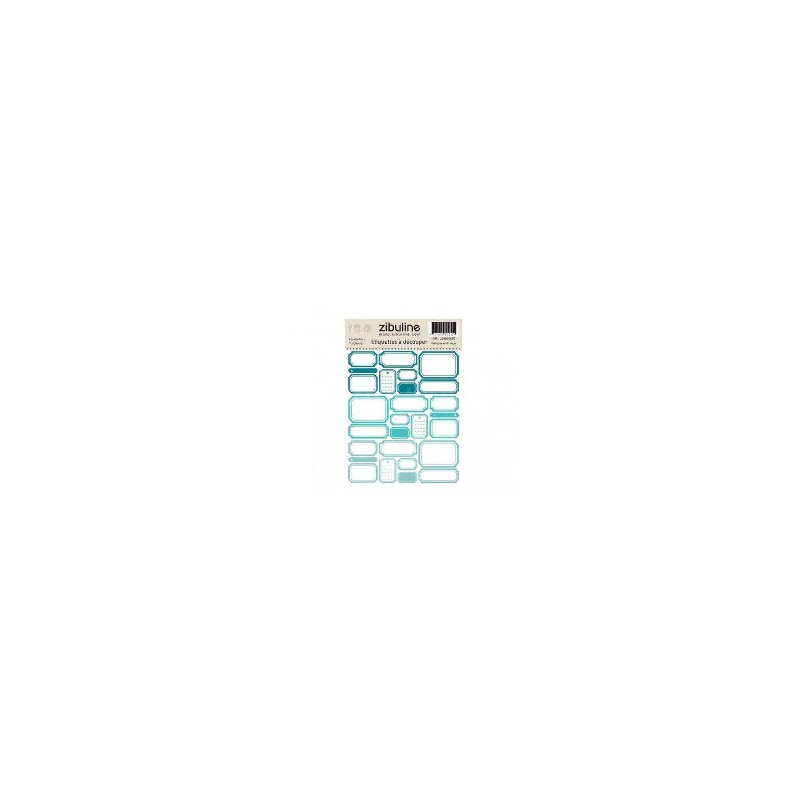 Planche d'étiquettes à découper - Les écoliers - Turquoise - Zibuline