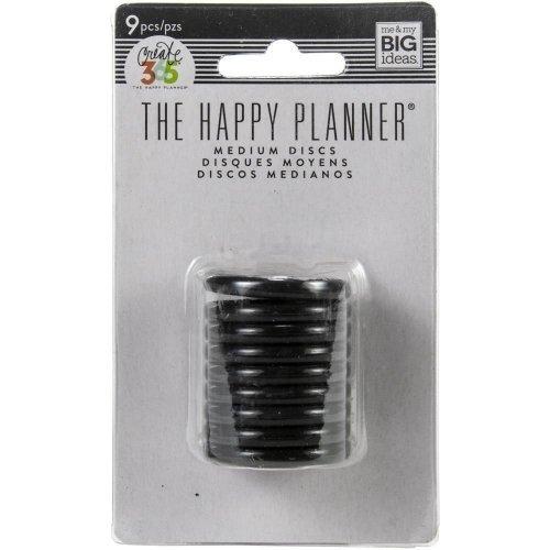 Anneaux noirs moyens - 3,2 cm - Happy Planner - MAMBI