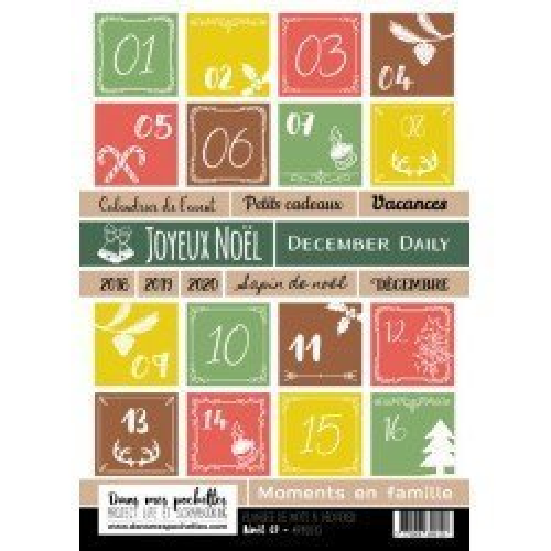 Planche de mots à découper - Noël 01 - Dans mes pochettes