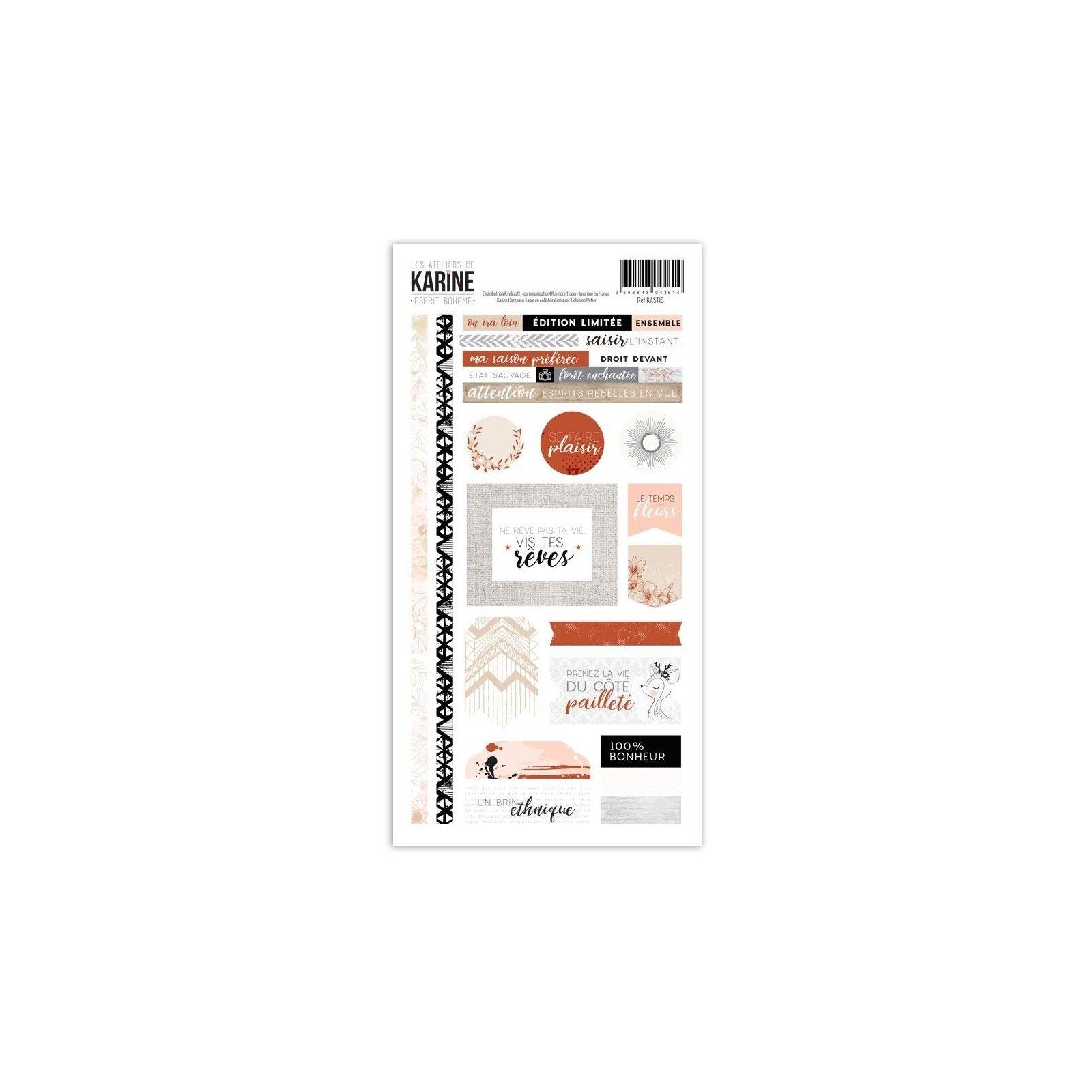 Stickers - Esprit Bohème - Les ateliers de Karine