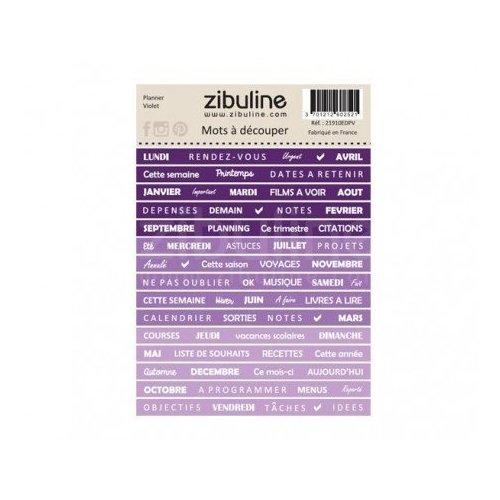 Planche de mots à découper - Planner - Violet - Zibuline
