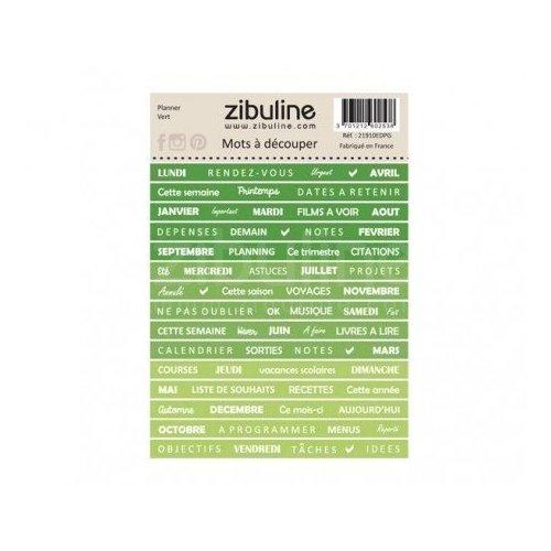 Planche de mots à découper - Planner - Vert - Zibuline