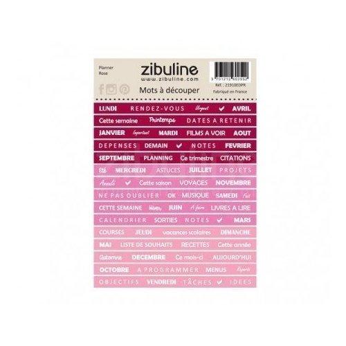 Planche de mots à découper - Planner - Rose - Zibuline
