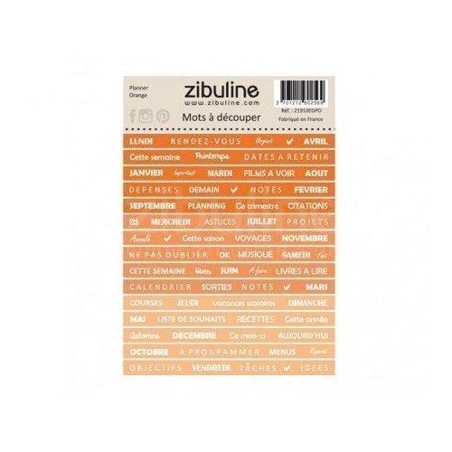 Planche de mots à découper - Planner - Orange - Zibuline
