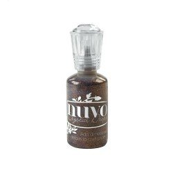 Nuvo Glitter Drops - Marron pailleté - Chocolate fondue - Tonic Studio