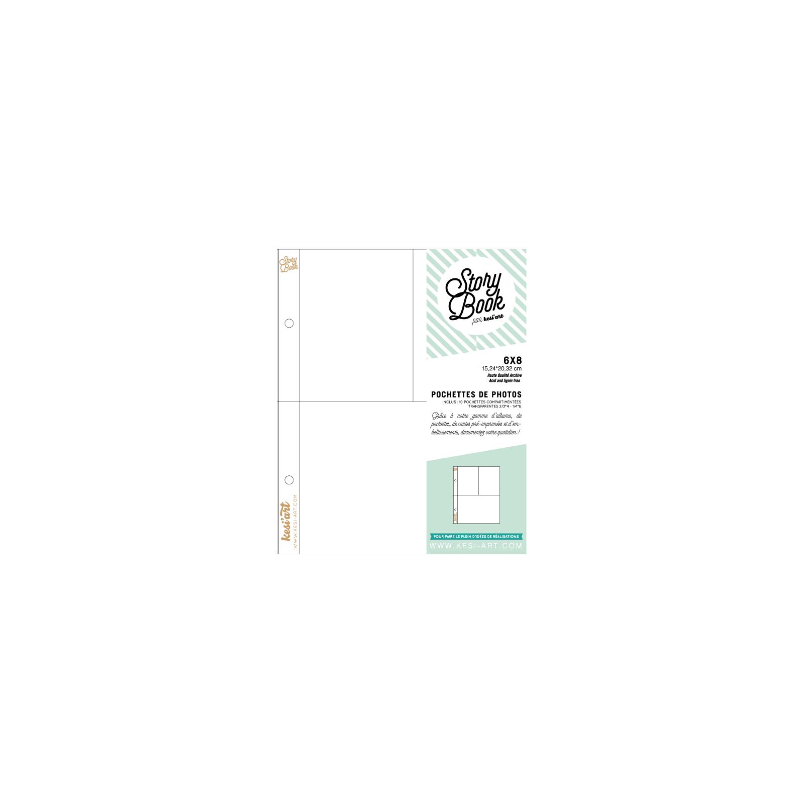 Pochettes Story Book 15x20 - 1 compartiment 10x15 et 2 compartiments 7,5x10 - Kesi'art
