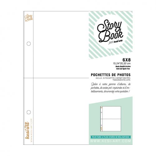 Pochettes Story Book 15x20 cm - 6x8 - 2 compartiments 10x15 - Kesi'art