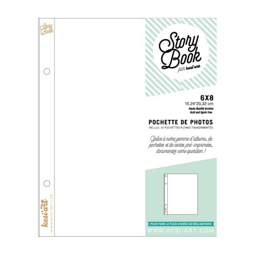 Pochettes Story Book 15x20 cm - 6x8 - Sans compartiment - Kesi'art