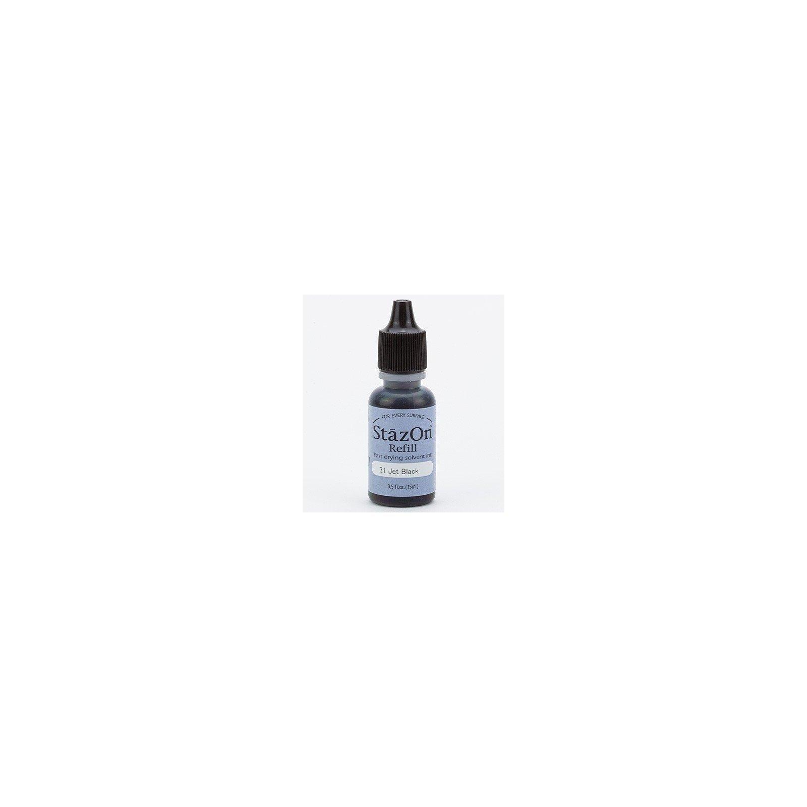 Recharge Stazon 15 ml - Noir - Jet Black - Tsukineko