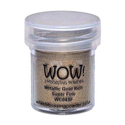 Poudre à embosser - Metallic Gold Rich - Super Fine - WOW!