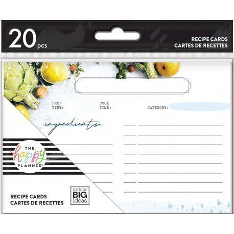 Cartes de recettes - Recipe Cards - Me & My Big Ideas.