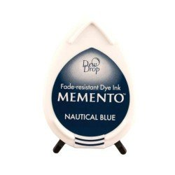 Mini encreur bleu marine Memento Dew Drop - Nautical Blue - Tsukineko