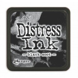 Mini encreur noir Distress - Black Soot - Ranger