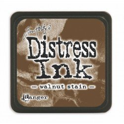 Mini encreur marron Distress - Walnut Stain - Ranger