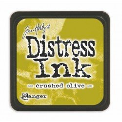 Mini encreur vert olive Distress - Crushed Olive - Ranger