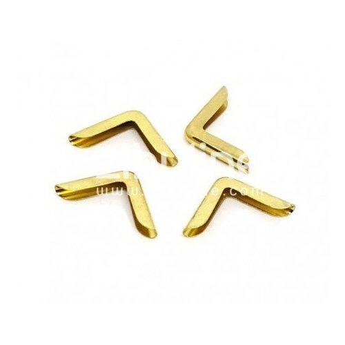 Coins en métal simples fins dorés - Zibuline