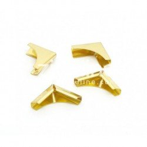 Coins en métal plein dorés - Zibuline