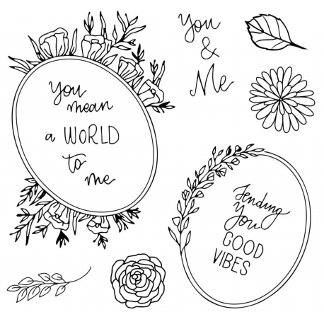 Tampons clear - Floral frames - So Romantic - Studio Forty