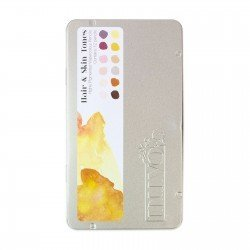 Palette de 12 crayons aquarellables - Hair & Skin Tones - Tonic Studio