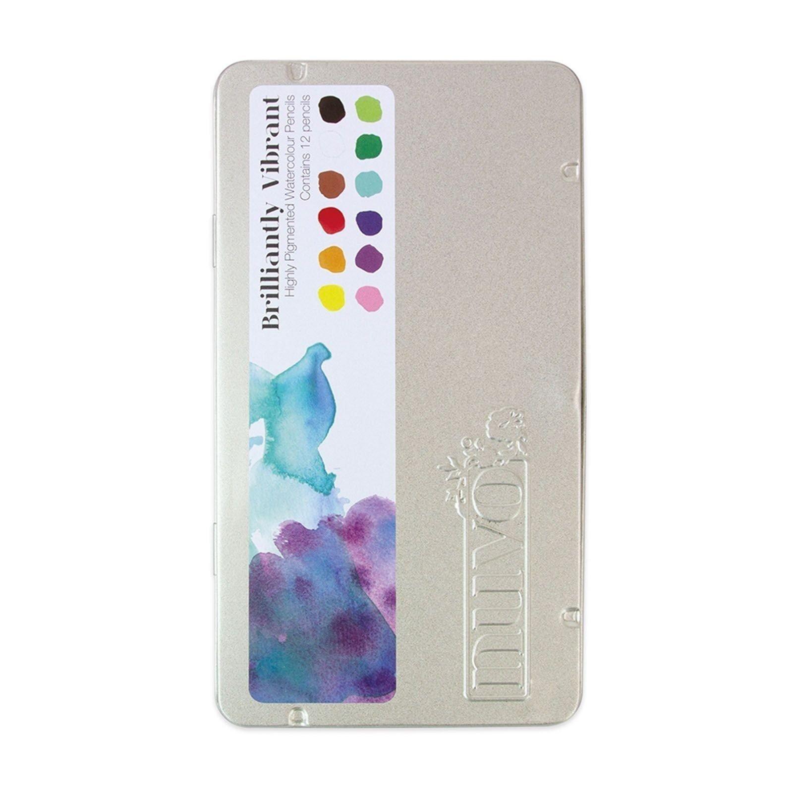 Palette de 12 crayons aquarellables - Brilliantly Vibrant - Tonic Studio