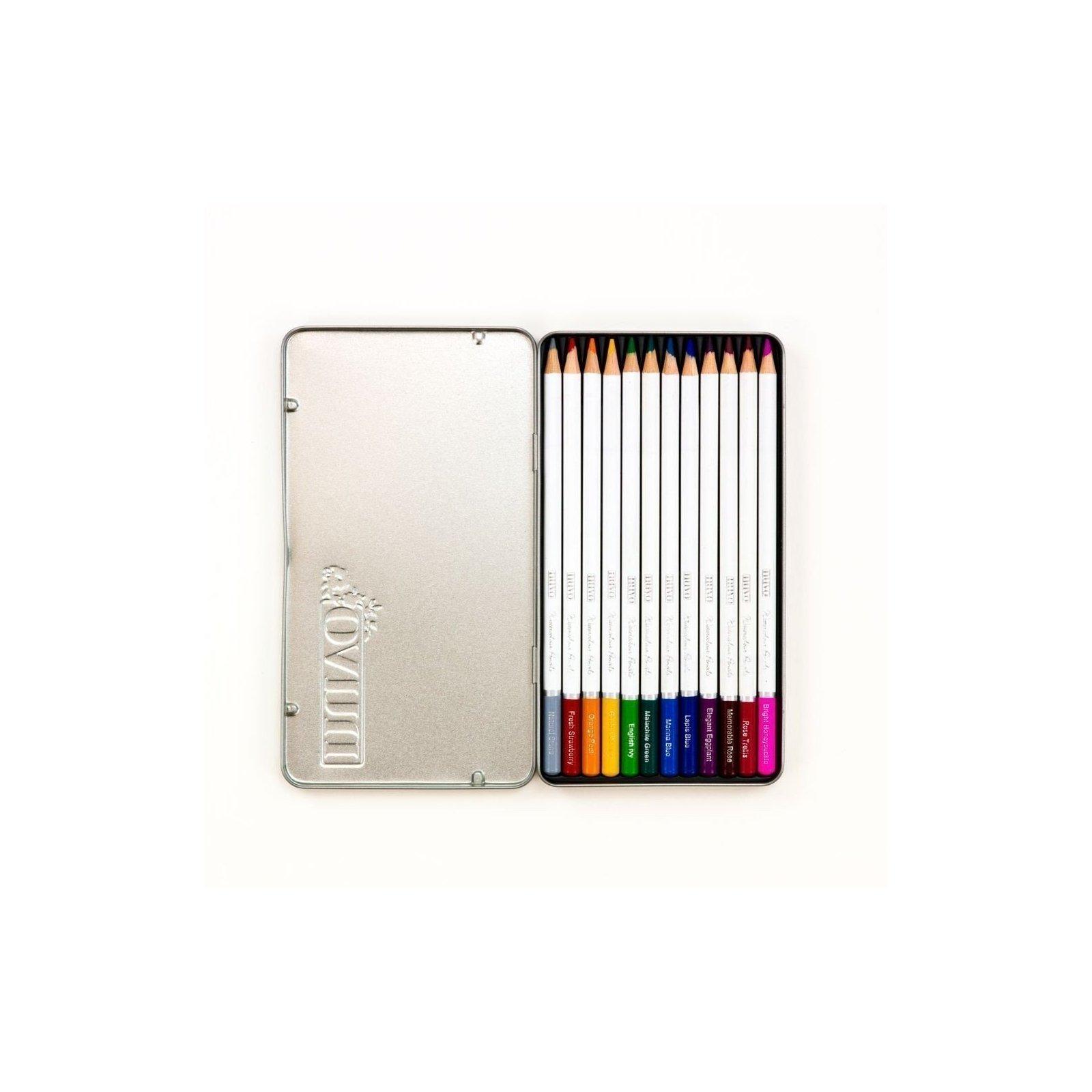 Palette de 12 crayons aquarellables - Elementary Midtones - Tonic Studio