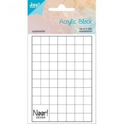 Bloc acrylique 10 x 7 cm - Quadrillé blanc - Joy! Crafts