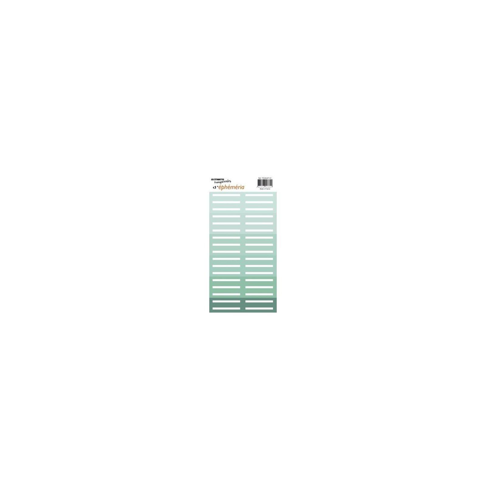 Les z'étiquettes transparentes - Nuances de mint - Ephemeria