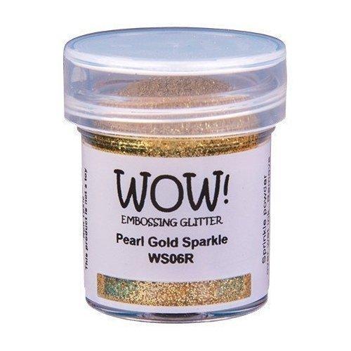 Poudre à embosser - Doré pailleté - Pearl Gold Sparkle - WOW!