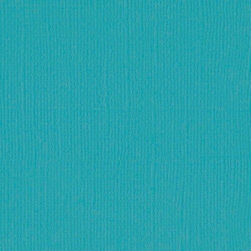 Papier turquoise - Peacock - Mono - Bazzil Basics Paper