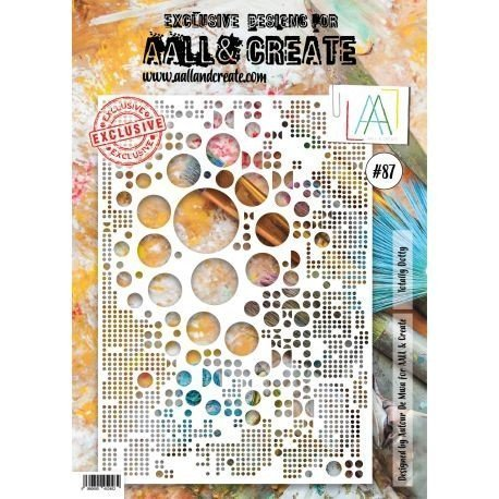 Pochoir - n°87 - Totally Dotty - AALL & Create