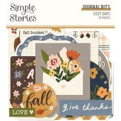 Die-cuts - Journaling - Cozy Days - Simple Stories