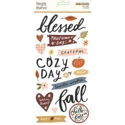 Stickers mousse - Cozy Days - Simple Stories