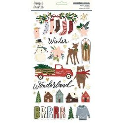 Chipboards Stickers - Winter Cottage - Simple Stories