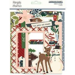 Chipboards Cadres - Winter Cottage - Simple Stories