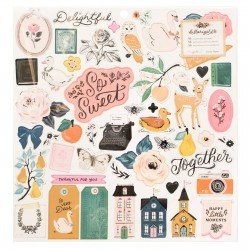 Chipboards - Marigold - Maggie Holmes - Crate Paper