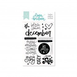 Tampons clear - December Documented - Lora Bailora