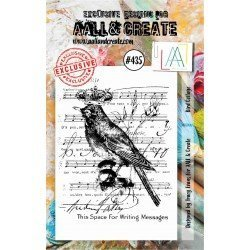 Tampon transparent - Bird Collage - n°435 - AALL & Create