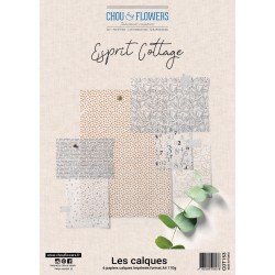 Collection A4 – Les calques - Esprit Cottage - Chou & Flowers