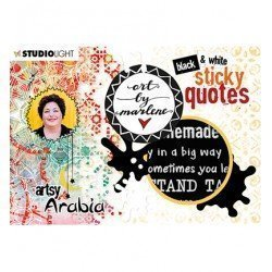 Sticker book - Black & White Sticky Quotes - Studio Light