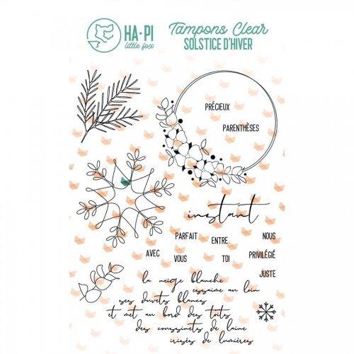 Tampon transparent - Instant précieux - Solstice d'hiver - Ha Pi Little Fox