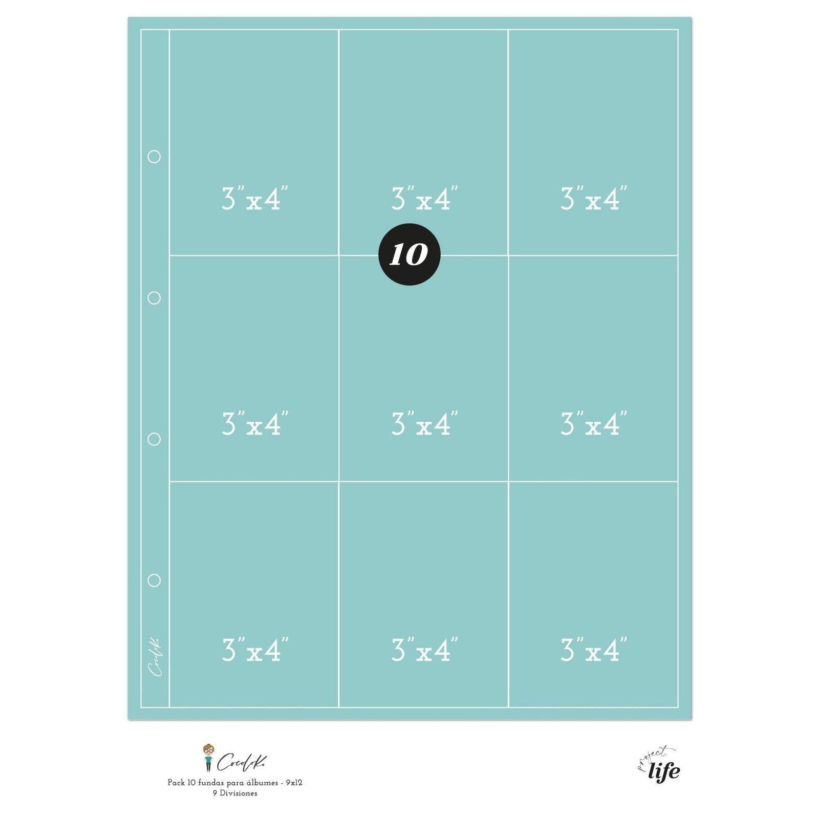 Pochettes plastiques 20 x 30 - Design 9D - Cocoloko