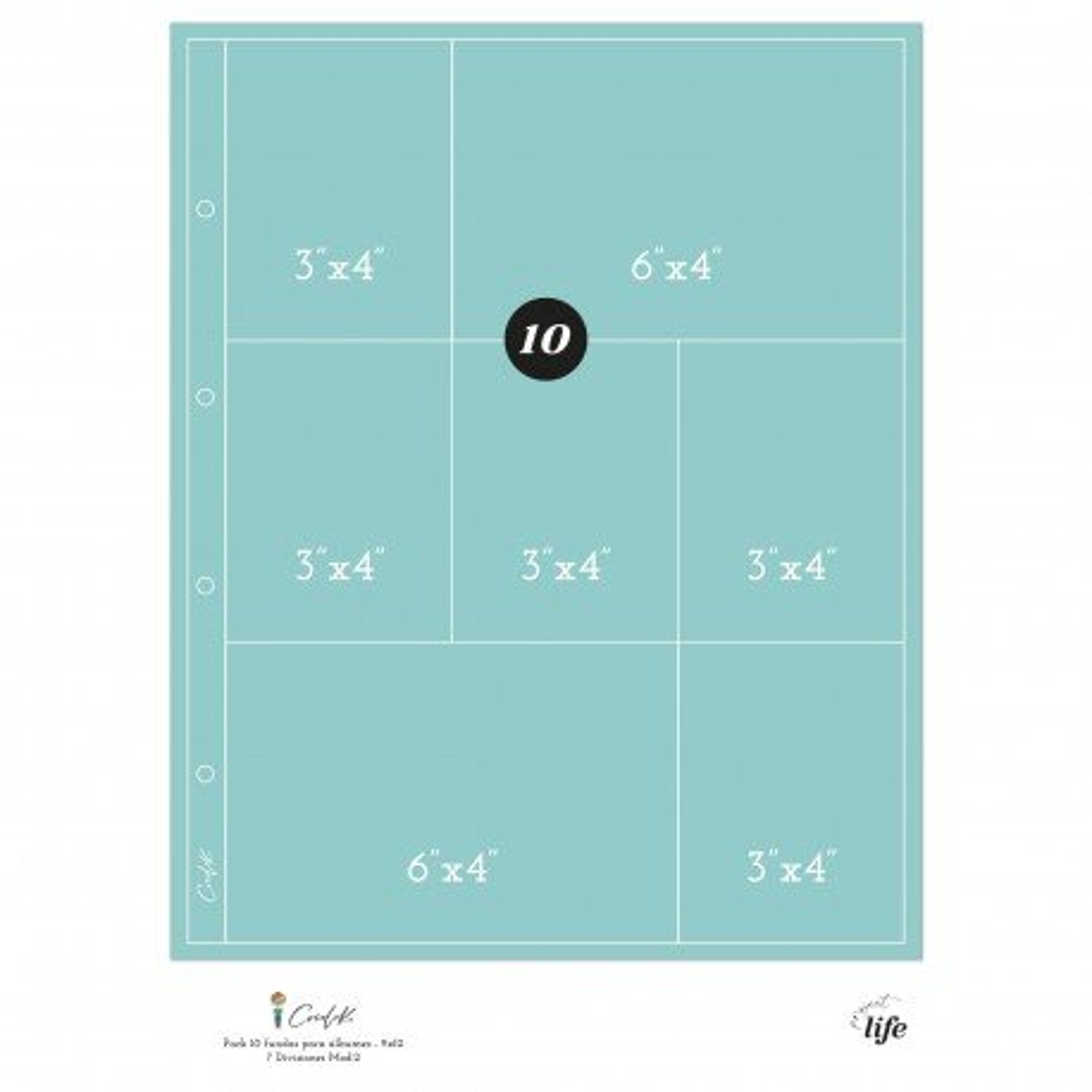 Pochettes plastiques 20 x 30 - Design 7D02 - Cocoloko