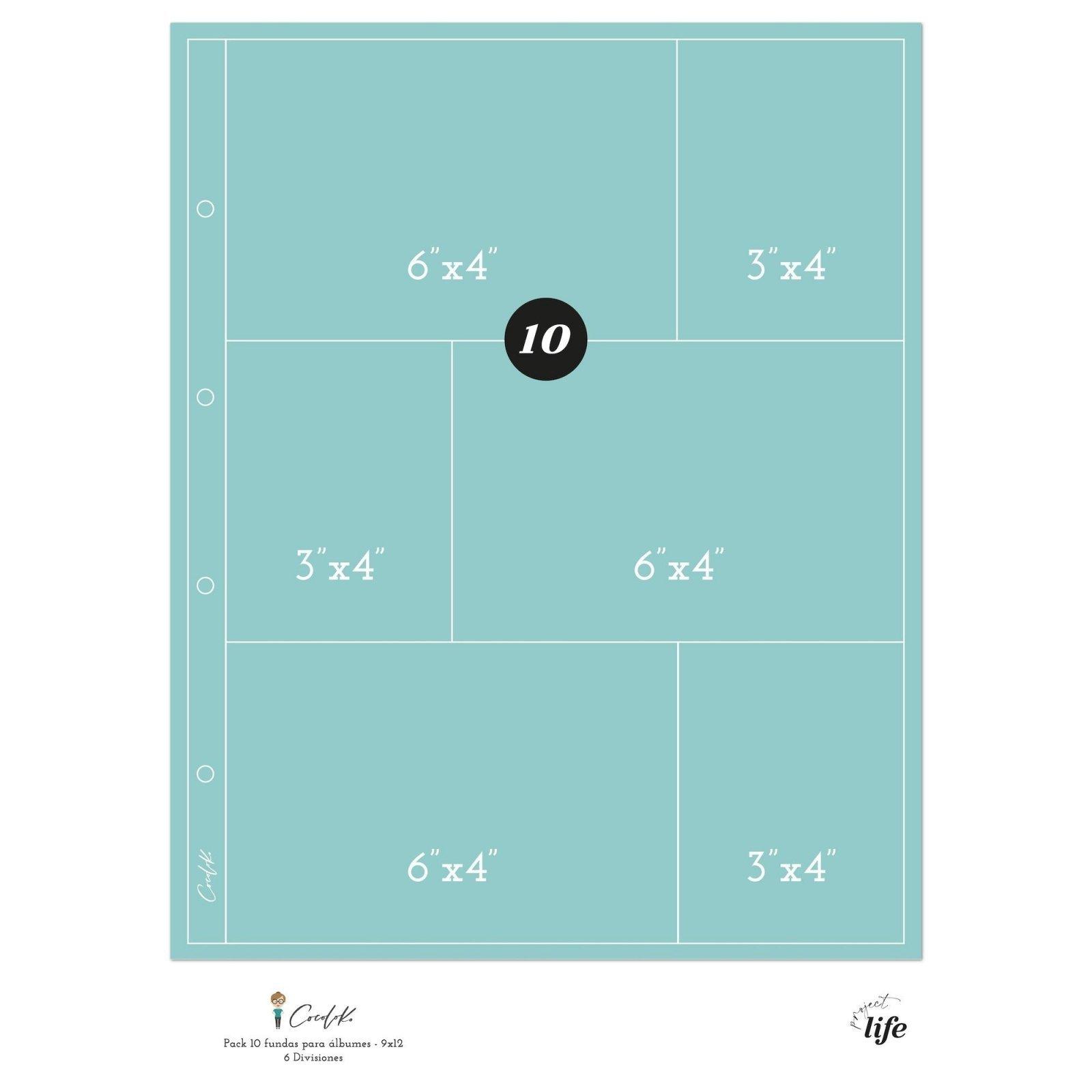 Pochettes plastiques 20 x 30 - Design 6D - Cocoloko