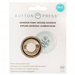 Mousse adhésive ronde - Button Press - We R Memory Keepers